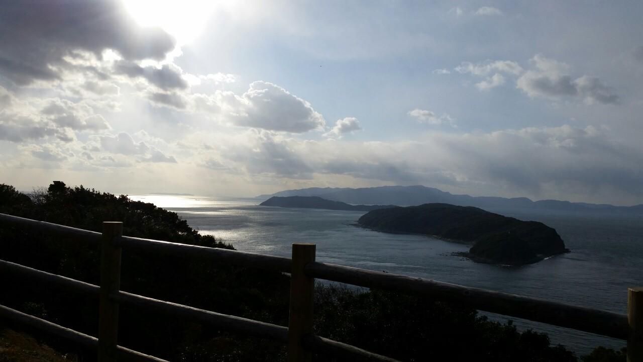 2015加太の砲台跡から見た友ヶ島