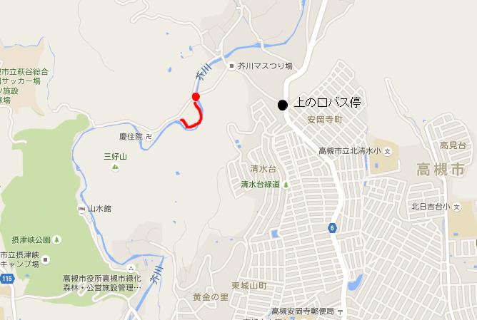 摂津峡ホタル場所