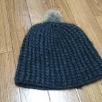 手編みニット帽1