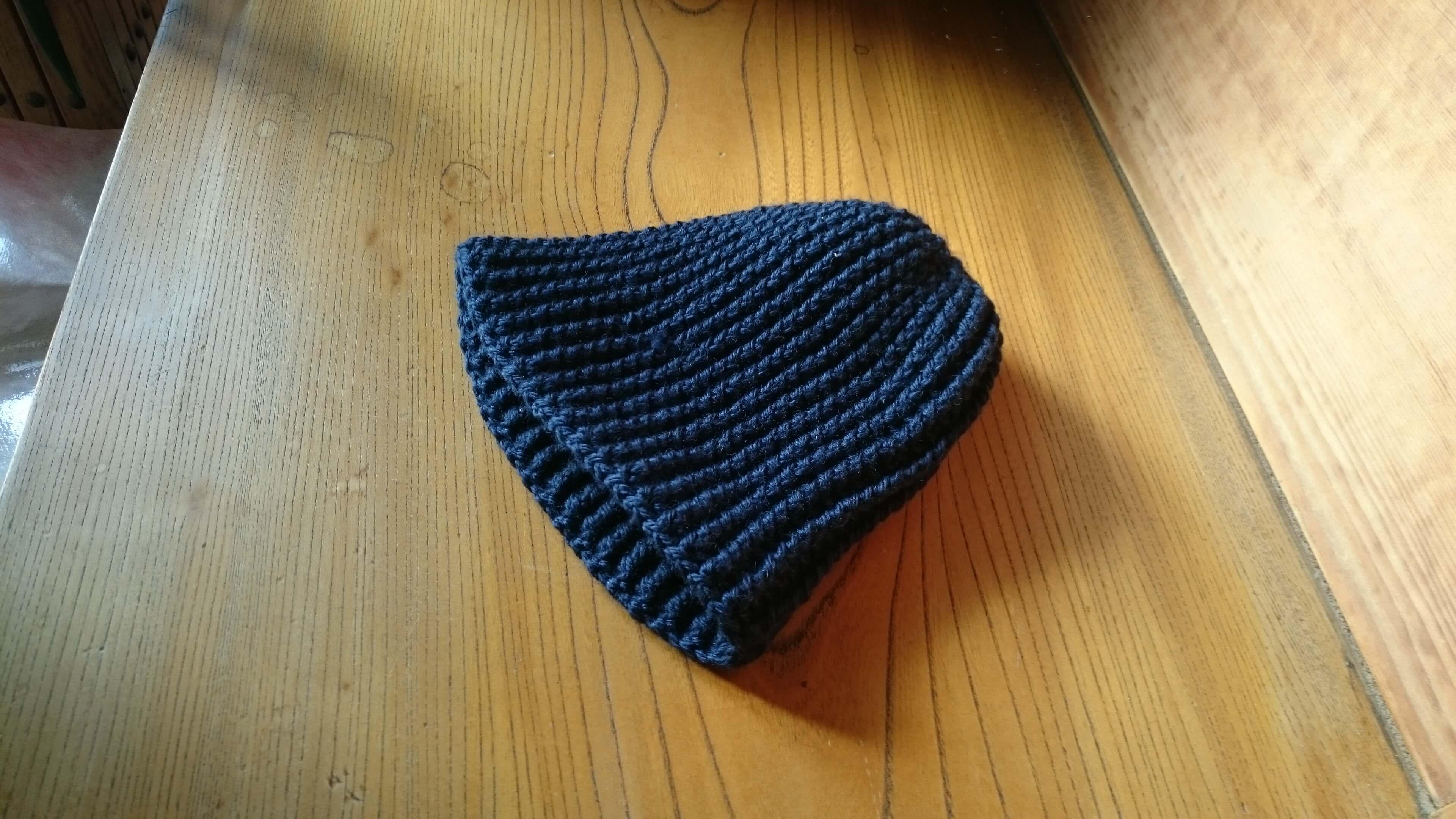 手編みニット帽2